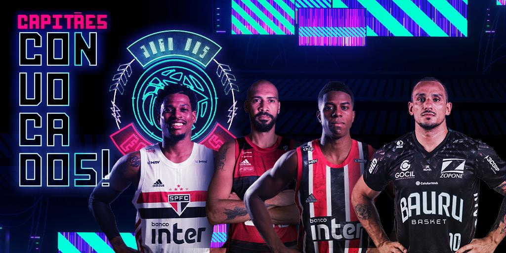 Esses serão os 4 capitães do Jogo das Estrelas 2021! (Arte/LNB)